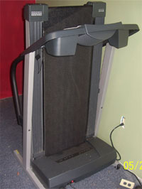 My treadmill in the shack