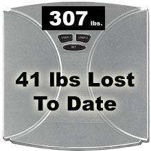 8 lbs lost this week, 41 lbs in total