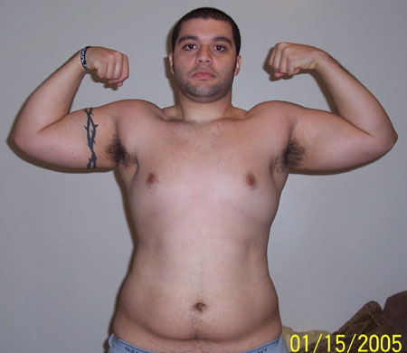 Before Fat Pictures from 2005 at 260 lbs Front view