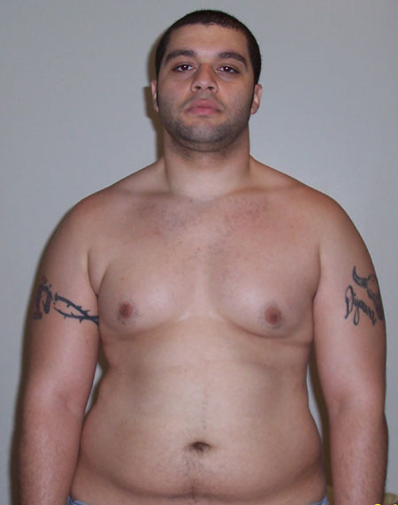 Before Fat Pictures from 2005 at 260 lbs Front view second shot