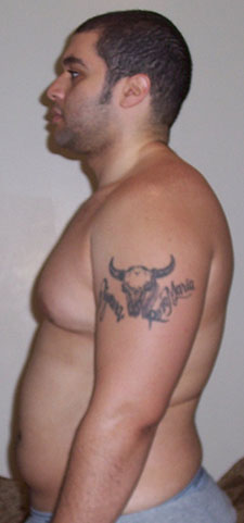 Before Fat Pictures from 2005 at 260 lbs Side view