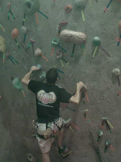 Fat Man Unleashed Rock Climbing