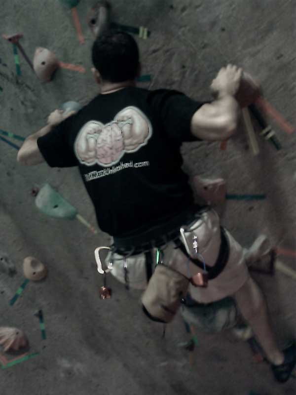 Fat Man Unleashed Indoor Rock Climbing