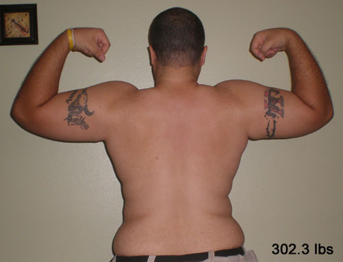 Back shot at 302.3 lbs