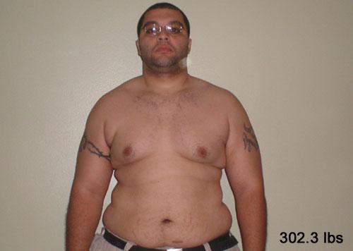 Front Shot at 302.3 lbs