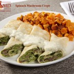Spinach Mushroom Crepe