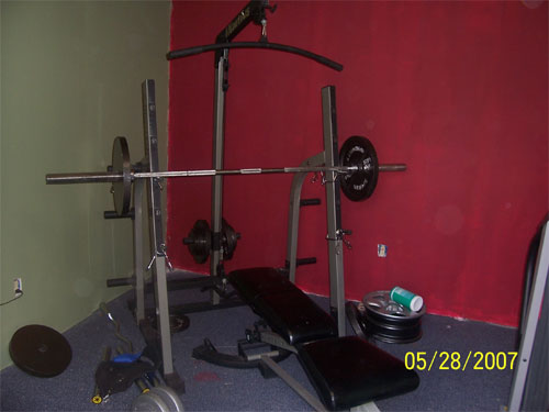 Pin costco nautilus weight set like new lat pull down for Squat rack set
