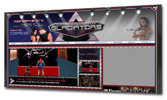 American Gladiators Web Site Logo